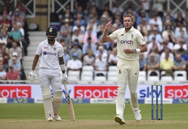 भारत के पांचवां टेस्ट छोड़ने पर ब्रॉड की प्रतिक्रिया-