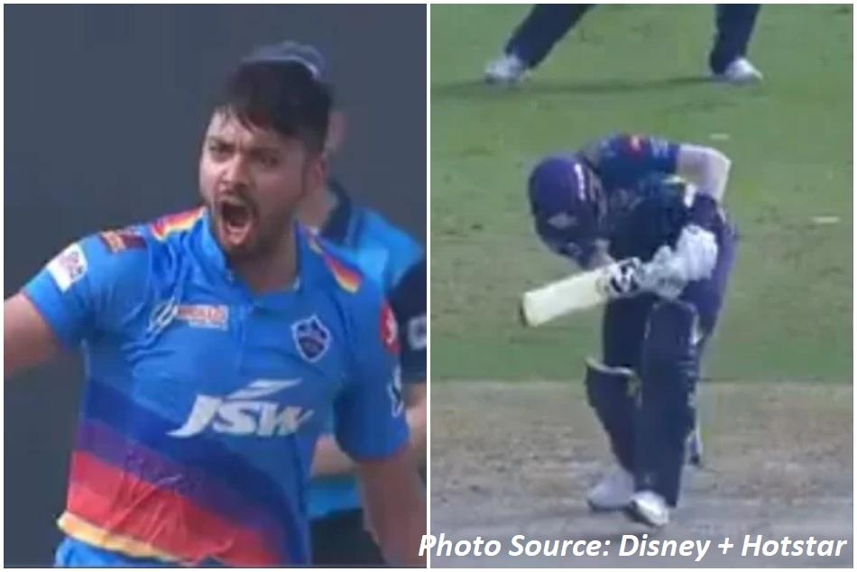 IPL 2021: Avesh Khans stormy yorker blew up Hardik Pandyas leg-stump - VIDEO