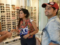 Pics Cricketer Suresh Raina Shared Latest Photo With Wife Priyanka