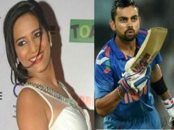 Video This Actress Showered Love On Rcb Skipper Virat Kohli