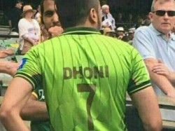 Pakistani Fan Cheered Wearing Dhoni Shirt His Country Team