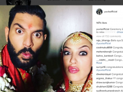 Yuvraj Singh S Post Marriage Selfie With Wife Hazel Keech Is Funny