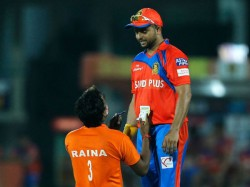 Ipl 2017 Suresh Raina Fan Rushes Onto The Field Autograph Obstructs Delhi Gujarat Match