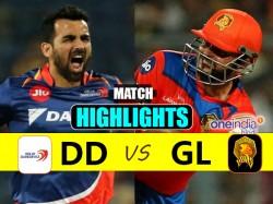 Ipl 2017 Match Highlights Gujarat Lions Vs Delhi Daredevils 50th Match