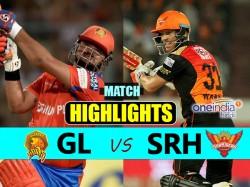 Ipl 2017 Match Highlights Gujarat Lions Vs Sunrisers Hyderabad 53rd Match