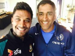 Bangladesh Batsman Sabbir Rahman Shared Selfie With Former India Captain Ms Dhoni