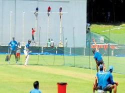Colombo Test Virat Kohli Bowls Shikhar Dhawan Practice Session