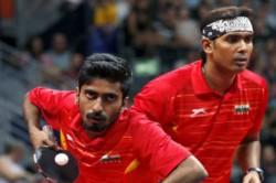 Cwg 2018 Table Tennis Sharath Achanta Sathiyan Gnanasekaran And In Boxing Satish Kumar Win Silver