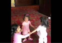 Ipl 2018 Dhoni Raina Harbhajans Daughters Fun Video