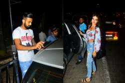 Kl Rahul Snapped With Bollywood Actress Nidhhi Agerwal Post A Date In Bandra