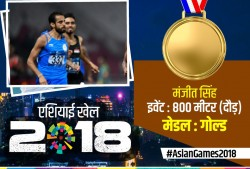 Manjit Singh Won Gold 800 Meter Asian Games