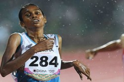 Chitra Won Bronze Medal 1500 M Race Asian Games