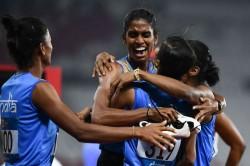 Indian Relay Team Won Gold Medal Race With Hima Das Asian Ga