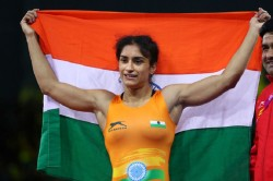 Vinesh Phogat Engaged With Somvir At Airport After Returned