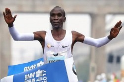 Kenyan Athlete Kipchoge Makes World Record Marathon