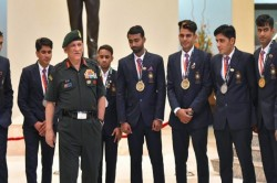 Bipin Rawat Army Chief Praises Players Asian Games