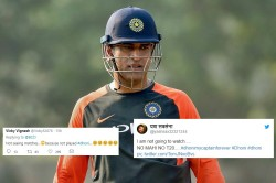 Fans Reaction After Ms Dhoni Left India Squad T20is