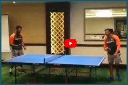 Indvswi Video Watch Cheteshwar Pujara Prithvi Shaw Playing Table Tennis