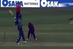Video Unlucky Shoaib Malik Gets Dismissed Bizarre Fashion