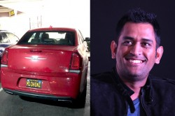 Ms Dhoni Number Plate Is Found On Car Los Angeles Surprised Csk