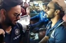 Indvsaus Ms Dhoni Takes Rishabh Pant Kedar Jadhav A Ride On His Hammer Video