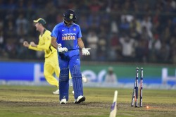 Indvsaus Rohit Sharma Bizarre Manner Out Gives Twitterati A Laugh Riot