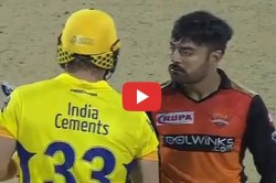 Ipl 2019 Rashid Khan And Shane Watson Eye S Battle Goes Viral On Social Media