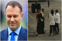 Michael Slater Have Heated Argument With Two Women Kicked Out Of The Plane