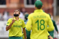 Imran Tahir Becomes The Leading Wicket Taker For South Africa Odi World Cup History