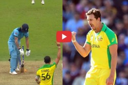 Icc Cricket World Cup Mitchell Starc Yorker To Ben Stokes Video Australia In Semifinal