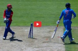 Ms Dhoni Stump Out Against Afghanistan Icc World Cup