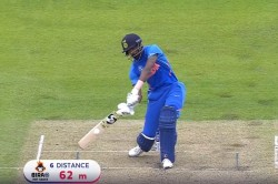 Hardik Pandya Edges A One Handed Six In 43 Over Of Hasan Ali India Vs Pakistan World Cup