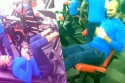 Cwc19 Shikhar Dhawan Did A Lot Of Workout At The Gym Despite The Plaster In Hand Video