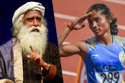 Users Troll Sadhguru On His Golden Shower S Tweet For Hima Das