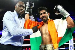 Boxer Vijender Singh Beats Mike Snider To Claim 11th Consecutive Victory