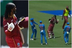 Ind Vs Wi Team India Celebrates Chris Gayle S Last Odi In This Manner Watch Video