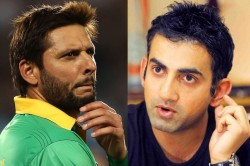 Gambhir Says To Afridi Some People Never Grow Up Their Brain Do Not Grow Either