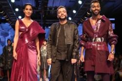 Hardik Pandya Walks The Ramp With Lisa Haydon In Lakme Fashion Week