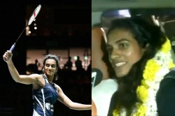 Pv Sindhu S Grand Welcome In India After World Badminton Championship Win