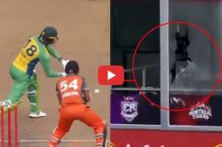 Global T20 Canada Shoaib Malik Hits Glass Breaking Sixes Watch Video