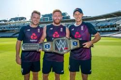 Icc World Cup Winner England Cricket Team Got Wwe Championship Belt