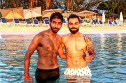 Indvswi Virat Kohli And Jasprit Bumrah Flaunts Their Abs Yuvraj Singh Amazed