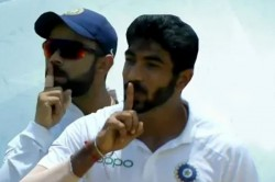 When Bumrah And Virat Kohli Silences The Crowd Gesture Goes Viral Watch