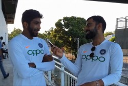 Ind Vs Wi Jasprit Bumrah Owe His Maiden Test Hat Trick To Virat Kohli Watch