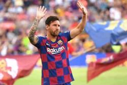 Spanish La Liga League Lionel Messi Hits Hat Trick Of Goals Surpasses Cristiano Ronaldo To Records