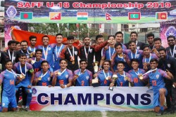 Saff U18 Championship 2019 India Lift Their Maiden Title After 2 1 Win Over Bangladesh