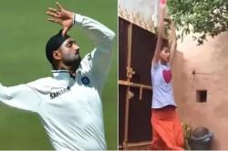 This Girl Is Bowling Like Harbhajan Singh Aakash Chopra Shared Video
