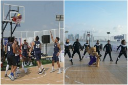 India S First Ever Floating Basketball Court Open In Mumbai