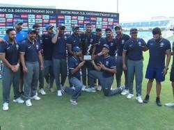 Deodhar Trophy 2019 Final Match India B Won By 51 Runs Kedar Jadhav Shahbaz Nadeem Vijay Shankar