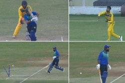 Syed Mushtaq Ali Trophy Rahul Tewatia Angry On His Teammate After Run Out